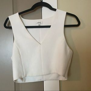 Wilfred Dauphine V neck Crop Top Small